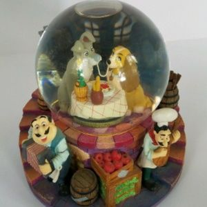 Disney Other - Disney Lady and the Tramp Musical Snow Globe vtg.